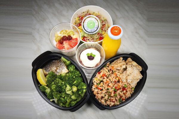 Протеиново меню с пуешко, зеленчуци, ципура и броколи