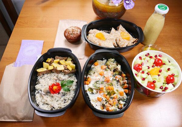 Протеиново меню с телешко с ананас и ориз басмати с гъби