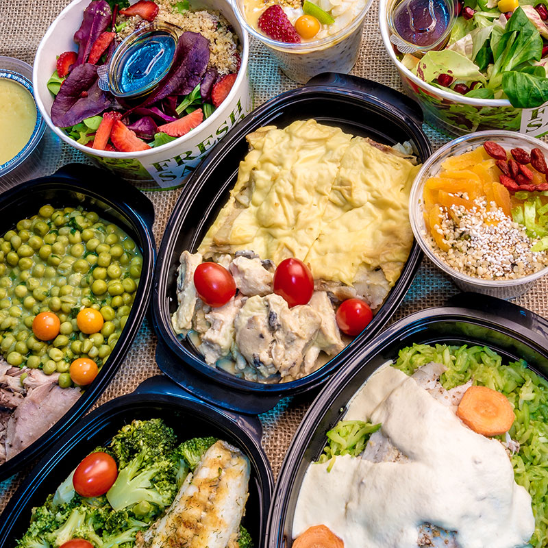 different healthy menus from Fit Panther - close-up plan