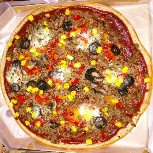 Пълнозърнеста пица без мая