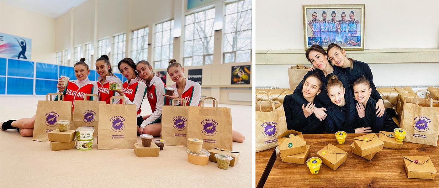 Български отбор по художествена гимнастика - клиенти на Здравословна кухня Fit Panther
