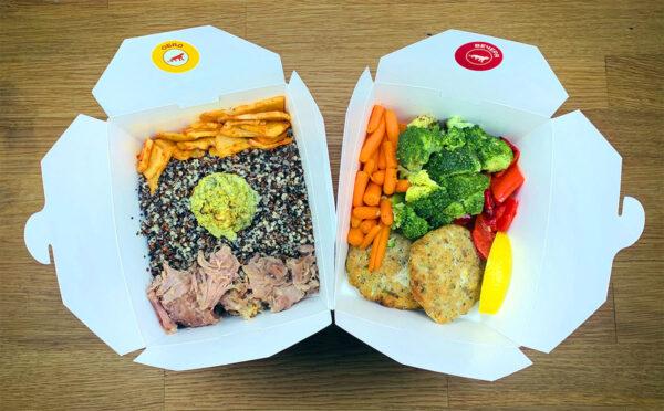 меню с обяд и вечеря от кухня Fit Panther с нови био опаковки